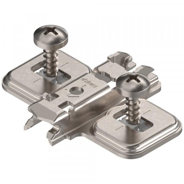 Blum Clip Top Kreuzmontageplatte mit Spanplattenschrauben 0 mm 173S6100