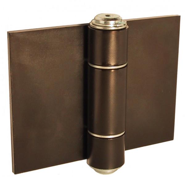 Schwere Torbänder Türscharnier Stahl blank Materialstärke 5 mm