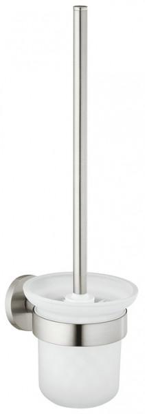 Häfele WC-Bürstengarnitur OSLO zum Schrauben oder Kleben Stahl Edelstahl-Finish