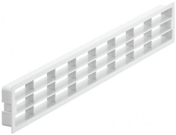 Häfele Lüftungsgitter eckig 400x83 mm Kühlschrank-Abluft Sockelleiste Kunststoff